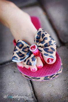 Leopard Princess Flip Flops