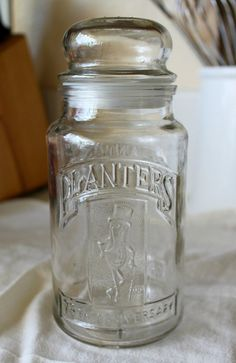 Vintage Planters Peanuts 1981 75th Anniversary Glass Jar