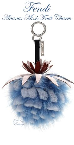 Brilliant Luxury♦Fendi Candy Colours Spring 2017♦Ananas Mink Fruit Charm for Handbag #blue