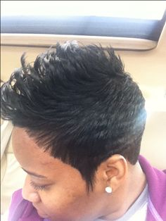 My short hair style MrsStoneyEvans Short Relaxed Hairstyles, Black Women Short Hairstyles, Cut Hairstyles, American Hairstyles, Cute Hairstyles For Short Hair, Haircuts, Hair Styles 2014, Curly Hair Styles, Short Sassy Hair