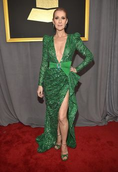 Celine Dion - Cleavage Was the Biggest Style Trend at the 2017 Grammys - Photos