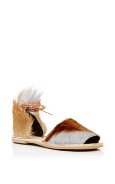 Springbok Congo Brown Sandal by BROTHER VELLIES for Preorder on Moda Operandi