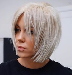 Stunning Medium Layered Bob Hairstyle For Every Woman medium layered bob hairstyle;bob hairstyles for fine hair;short hairstyle trending hairstylesmedium layered bob hairstyle;bob hairstyles for fine hair;short hairstyle trending hairstyles Bob Hairstyles For Fine Hair, Layered Bob Hairstyles, Short Pixie Haircuts, Short Hairstyles For Women, Short Hair Cuts, Trending Hairstyles, Pixie Hairstyles, Black Hairstyles, Pretty Hairstyles