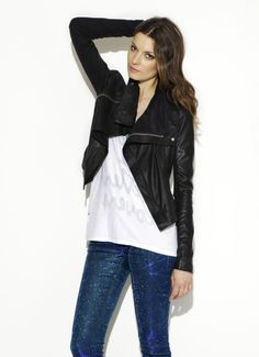 Max Classic black leather jacket  $825