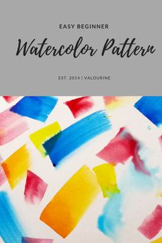 A quick watercolour pattern painting. Using an angular brush and bright Koh-I-Noor paint Watercolor Art Face, Watercolor Art Lessons, Watercolor Art Paintings, Easy Watercolor, Watercolour Tutorials, Watercolor Techniques, Abstract Watercolor, Watercolors, Art Clipart
