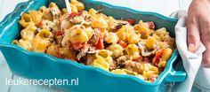 pasta met paddestoelen uit de oven Pasta Noodles, Good Mood, Pasta Recipes, Macaroni And Cheese, Foodies, Favorite Recipes, Dinner, Cooking, Ethnic Recipes