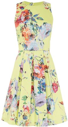 Warehouse Rose floral prom dress