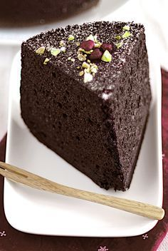 Chocolate Chiffon Cake. Can't wait to try this recipe :)