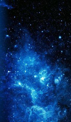 galaxies in the milky way Dark Blue Wallpaper, Night Sky Wallpaper, Blue Wallpaper Iphone, Wallpaper Space, Blue Wallpapers, Pretty Wallpapers, Phone Wallpapers, Wallpaper Backgrounds, Blue Aesthetic Dark