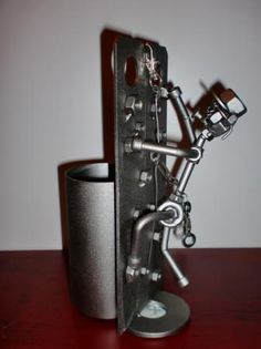 escalador con porta bolígrafos  acero inox. aisi-304 soldadura