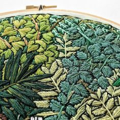 Embroidery art by Sarah K. Benning