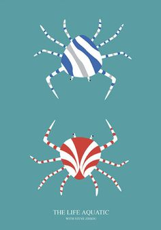 The Life Aquatic with Steve Zissou (2004) ~ Minimal Movie Poster by Kate Syska #amusementphile