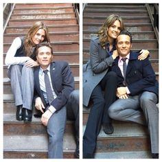 Stana's BTS pic with Seamus Dever from 2 different seasons Castle Series, Castle Tv Shows, Castle Abc, Stana Katic, Nathan Fillon, Seamus Dever, Netflix, Castle Beckett, Greys Anatomy Cast