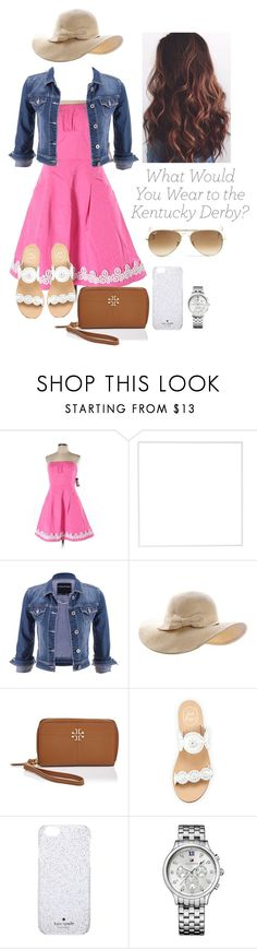 """""""Untitled #152"""" by sarahgriffis ❤ liked on Polyvore featuring Lilly Pulitzer, Menu, maurices, Tory Burch, Jack Rogers, Kate Spade, Tommy Hilfiger and Ray-Ban"""