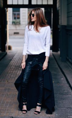And leather pants and a skirt? Who says it can't be done? Certainly not #MajaWyh