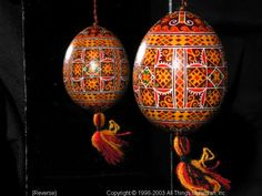 Ukrainian Easter Egg Pysanky 03-191  from the Lviv Region on AllThingsUkrainian.com