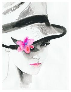 Dessin de Cate Parr (anglaise) illustratrice de mode basée à Los Angeles. Son site : http://www.cateparr.com/