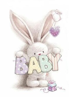 Clipart Baby, Tatty Teddy, Cute Drawings, Animal Drawings, Storch Baby, Lapin Art, Image Deco, Blue Nose Friends, Baby Painting