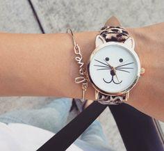 montre chat cadeau femme
