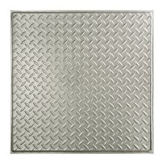 Found it at Wayfair - Diamond Plate Revealed Edge 2 ft. x 2 ft. Drop-In Ceiling Tile in Brushed Aluminum
