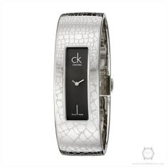 Calvin Klein K2023107 Women's Instinctive Stainless Steel Bangle Watch with Black Dial