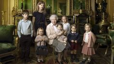QUEEN Elizabeth isn't often pictured with a kid in her lap, but Princess Charlotte has been placed proudly on her grandmother's lap for a new portrait to commemorate her 90th birthday.