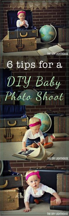 Tips, tricks, and ideas for a DIY baby photo shoot | how to take your own baby photos | props and other easy at home inspiration for baby boy or girl photography