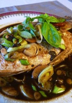 Cambodian style fish with soy bean paste Recipe