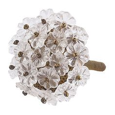 Charming crystal flower knobs