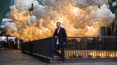 french artist charles pétillon has filled london's 19th century covent garden market building with 100,000 giant white balloons. see the full article on designboom here: http://www.designboom.com/art/charles-petillon-heartbeat-100000-white-balloons-covent-garden-08-27-2015/