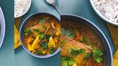 Linsen-Ananas-Curry mit Knuspertofu Palak Paneer, Guacamole, Ethnic Recipes, Food, Asia, Pineapple, Lentil Curry, Curry Recipes, Easy Meals