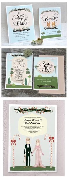 Hand Made Wedding Invitations