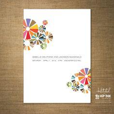 MODERN - Modern Abstract Color Wheels Wedding Invitation (DEPOSIT). $125,00, via Etsy.