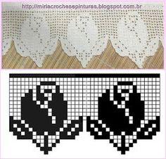 crochet border - MIRIA CROCHÊS E PINTURAS: BARRADOS DE CROCHÊ COM ROSAS