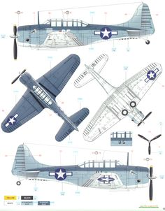 Here is the Douglas SBD Dauntless Pacific Tri-Color Camouflage Color Profile