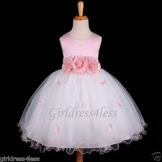 PINK PRINCESS FAIRYTALE PARTY FLOWER GIRL DRESS  This one's my favorite!