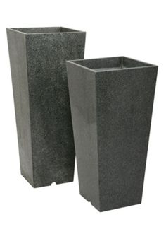 outdoor planters and urns   Granite Tall Taper planters, XL and XXL sizes.