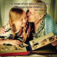 """The songs of our ancestors are also the songs of our children."" - Philip Carr-Gomm #quote #memories  http://www.yesvideo.com/"