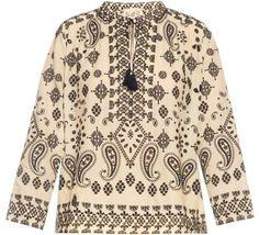 SEA Bi-colour embroidered blouse