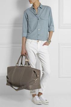 Eddie Harrop The Voyager studded leather weekend bag NET-A-PORTER.COM