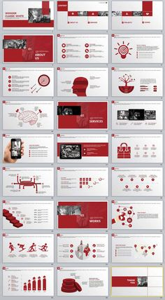 27+ red business purple Annual Report | PowerPoint Templates and Keynote Templates
