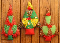 cute fabric christmas trees