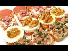 Canapés y aperitivos fáciles en 5 minutos - YouTube