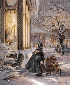 """Star of Wonder"" by Trisha Romance. Love Trisha Romance she is a great artist:) Christmas Scenes, Christmas Past, Christmas Pictures, Christmas Greetings, Winter Christmas, Christmas Carol, Christmas Child, Christmas Candles, Blue Christmas"