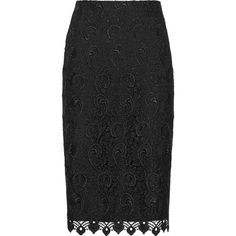 Reiss Orta Lace Pencil Skirt ($245) ❤ liked on Polyvore