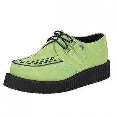 T.U.K. Shoes Neon Green Mondo Lo Sole Brothel Creeper
