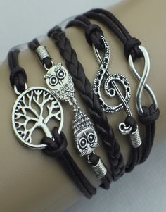 Infinity, Music Note, Owls, Tree ModWrap � Dark Brown. Use Coupon Code: CHRIS