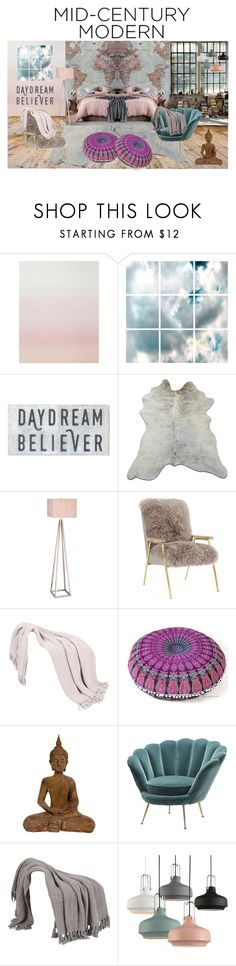 """Mid Century Modern: Daydream Believer"" by stylepix ❤ liked on Polyvore featuring interior, interiors, interior design, home, home decor, interior decorating, Sandberg Furniture, Barclay Butera, Catalina and modern"