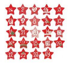 Dřevěné číslice na adventní kalendář