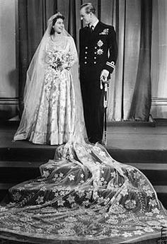 Norman Hartnell, Wedding dress for Queen Elizabeth II (1947). The British designer was appointed dressmaker to the royal family in 1938, and also designed extensively for theatre and film. He was particularly known for his wedding gowns, and this one for the future Queen Elizabeth II was decorated with thousands of seed pearls and crystal beads. He also designed the Queen's coronation gown .